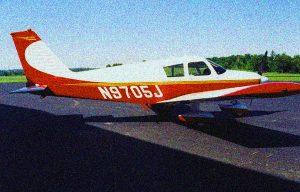 red white plane